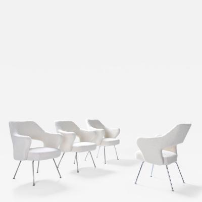 Gastone Rinaldi Gastone Rinaldi P16 armchairs in boucl wool 1950s