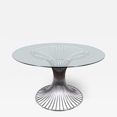 Gastone Rinaldi Modernist Chrome Dining Table by Gastone Rinaldi