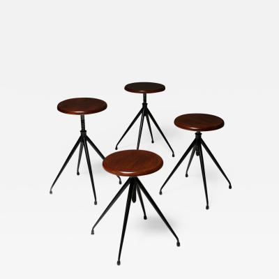 Gastone Rinaldi Set of Four Stools Model A105 by Gastone Rinaldi for Rima