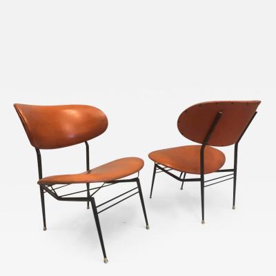 Gastone Rinaldi Two Pairs of Italian Mid Century Modern Lounge Chairs by Gastone Rinaldi
