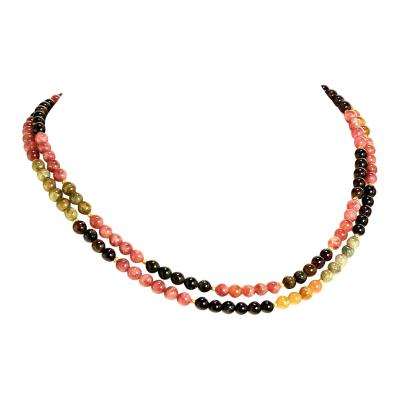 Gemjunky 37 Inch Glowing Multi Color Tourmaline Necklece