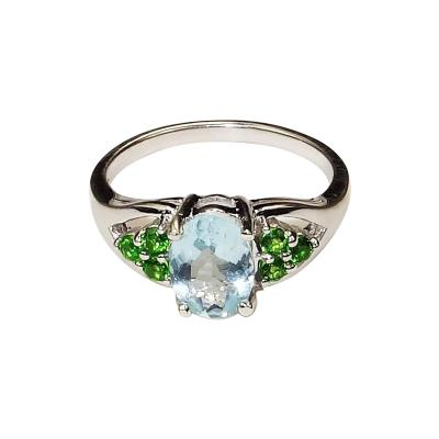 Gemjunky Aquamarine and Sterling Silver Ring