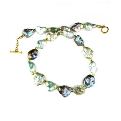 Gemjunky Baroque Multi toned Pearl Necklace