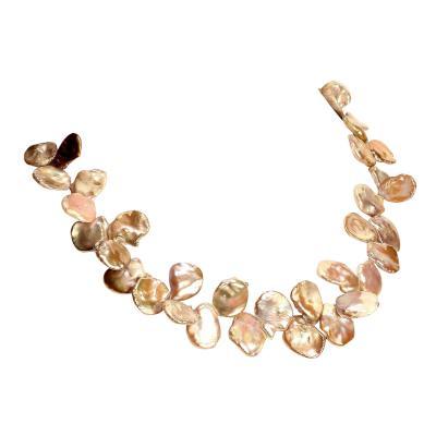 Gemjunky Elegant 19 Inch Iridescent Gray Keshi Pearl Necklace