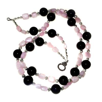 Gemjunky Elegant Amethyst and Kunzite Double strand necklace