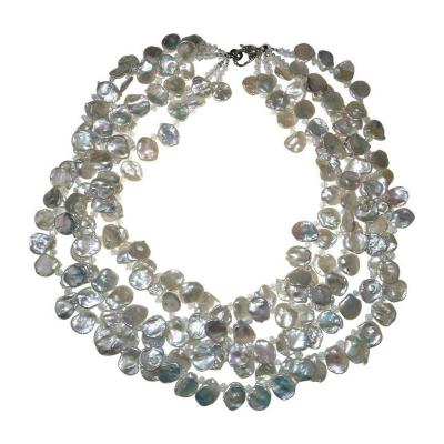 Gemjunky Norris Gemjunky Five Strand Iridescent Keshi Pearl Necklace