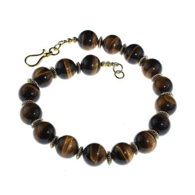 Gemjunky Statement Necklace of Magnificent Glowing Tigers Eye