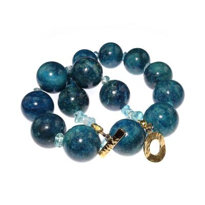 Gemjunky Statement Teal color Apatite and Apatite Necklace