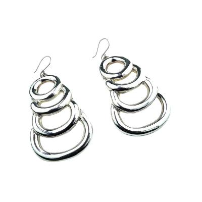 Gemjunky Sterling Silver Long Light Statement Earrings