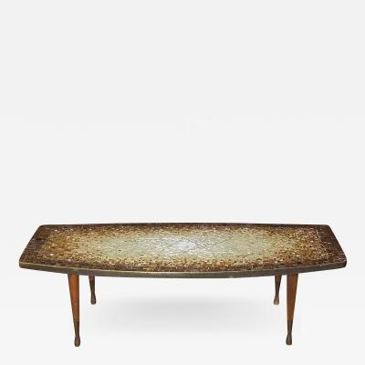 Genaro Alvarez Atomic Design Mosaic Tile Coffee Table by Genaro Alvarez Mexico circa 1955