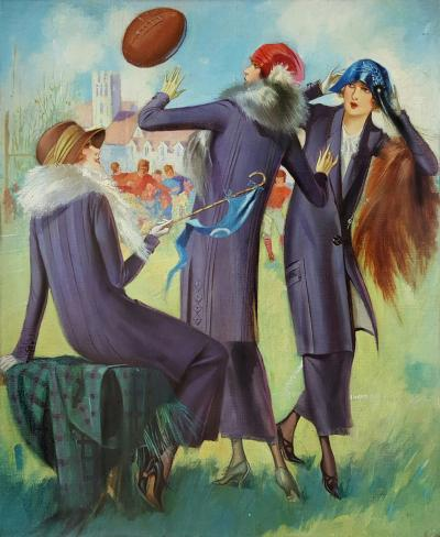 Gene Pressler Ladies at a Football Game