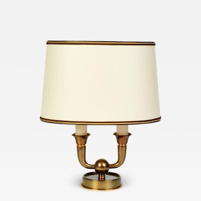 Genet et Michon Elegant Genet Michon Bronze Table Lamp France 1940s