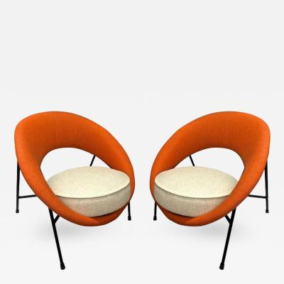 Genevieve Dangles Christian Defrance Model Saturne Rare Pair of Chairs by Genevieve Dangles and Christian Defrance