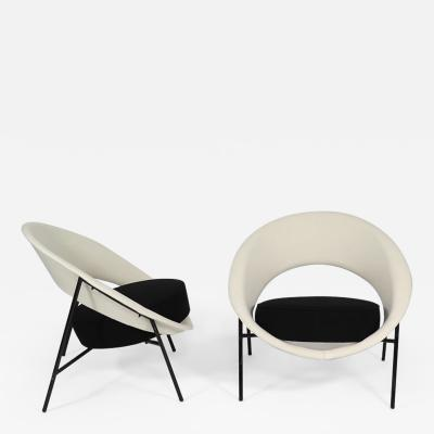Genevieve Dangles Christian Defrance Rare Pair of Saturn Chairs