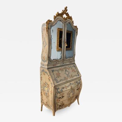 Genoese Bureau Bookcase Scrivania a ribalta con alzata