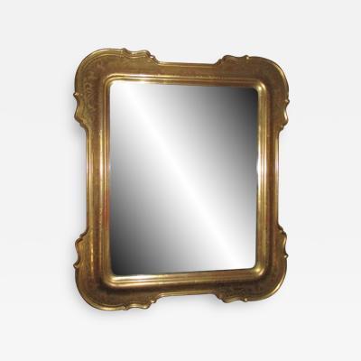 Genovese 19th c Etched Gold Leaf Mirror with Original Mercury Mirror
