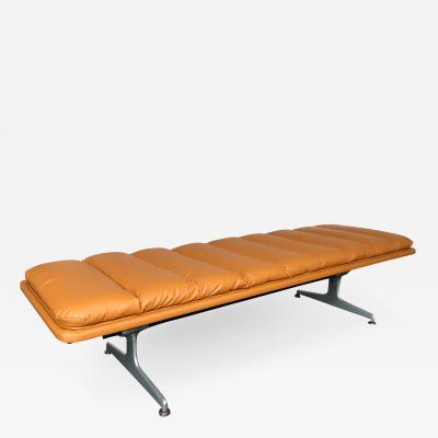 Geoffery Harcourt Bench Leather by Geoffrey D Harcourt for Artifort Netherlands 1970s