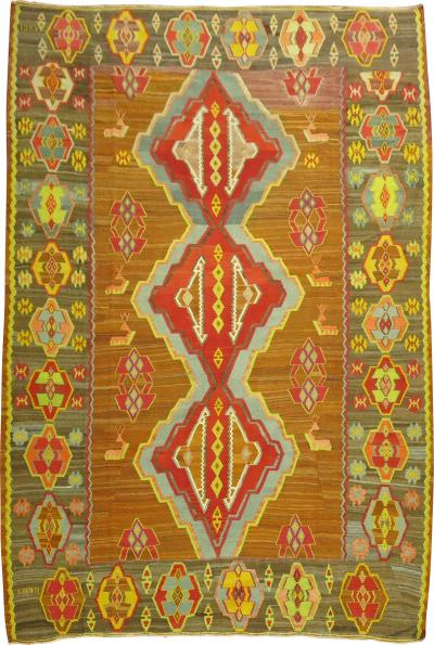 Geometric Turkish Kilim rug no j1648