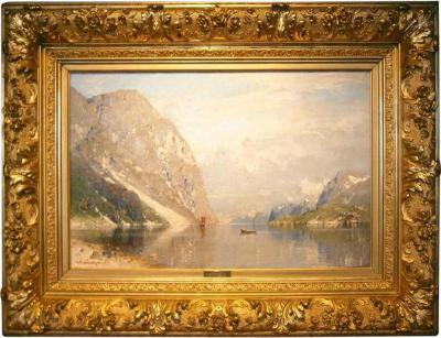 Georg Anton Rasmussen Fjordlandschaft by Georg Rasmussen