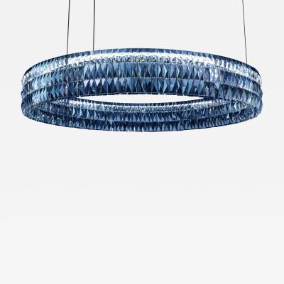 Georg Baldele GLITTERHOOP EMERALD minimalist crystal chandelier