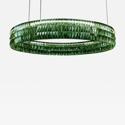 Georg Baldele GLITTERHOOP SAPPHIRE minimalist crystal chandelier