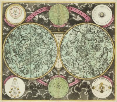 Georg Christoph Eimmart Early 18th century double hemisphere celestial chart