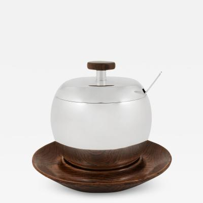 Georg Jensen A Rare Kay Bojesen Sterling Silver Ice Pail on Fitted Teak Stand