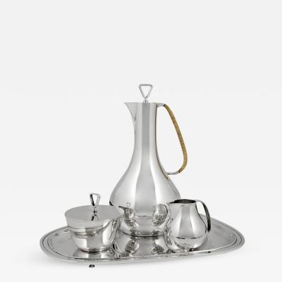 Georg Jensen Elegant Georg Jensen Bernadotte Coffee Set on Tray 1015