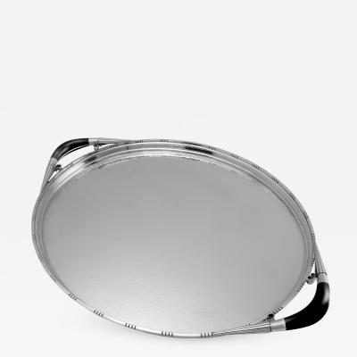 Georg Jensen Extra Large Georg Jensen Cosmos Tray 251A by Johan Rohde in Original Box