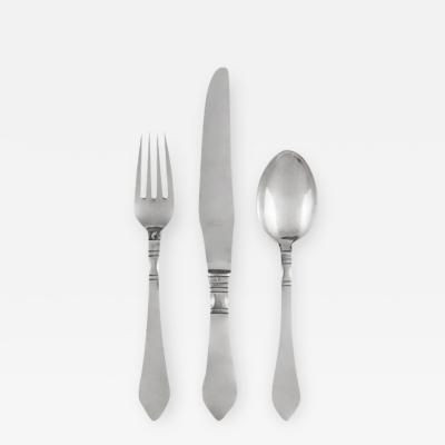 Georg Jensen GEORG JENSEN CONTINENTAL SILVERWARE SERVICE FOR EIGHT