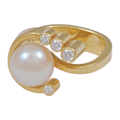 Georg Jensen GEORG JENSEN Diamond and Pearl Ring