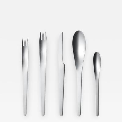 Georg Jensen Georg Jensen 5 piece Stainless Flatware Arne Jacobsen