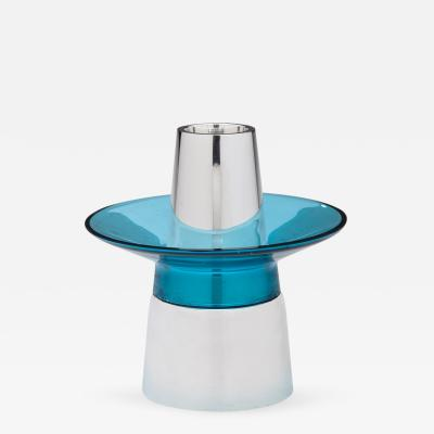 Georg Jensen Georg Jensen Candlestick No 1151 with Blue Glass