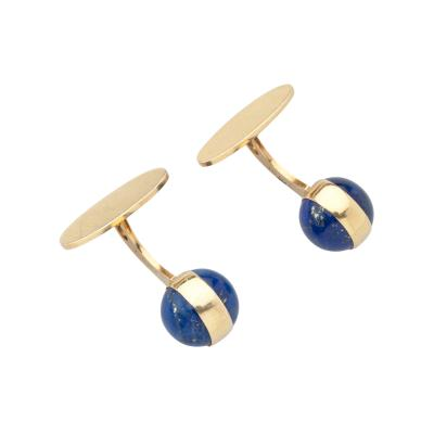 Georg Jensen Georg Jensen Gold Cufflinks No 1104 with Lapis