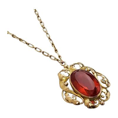 Georg Jensen Georg Jensen Gold Fire Opal Pendant NO 27