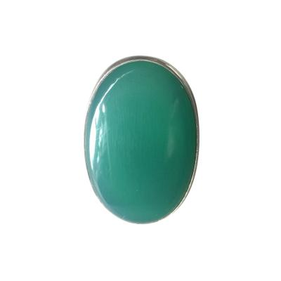 Georg Jensen Georg Jensen Modernist Sterling Silver Ring No 90A with Chrysoprase