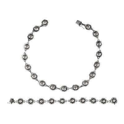 Georg Jensen Georg Jensen Necklace 42B and Bracelet 45 Set
