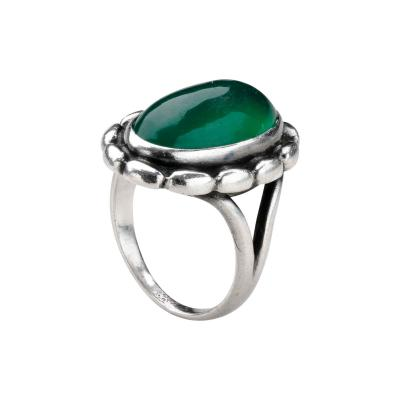 Georg Jensen Georg Jensen Ring No 19 with Green Agate