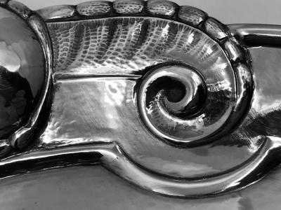 Georg Jensen Georg Jensen Sterling Silver Art Nouveau Tray 159B in Original Box
