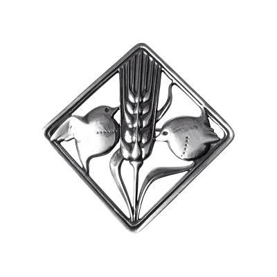 Georg Jensen Georg Jensen Sterling Silver Birds Brooch design by Arno Malinowski