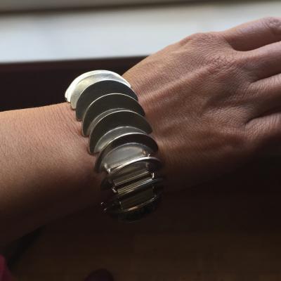 Georg Jensen Georg Jensen Sterling Silver Disc Bracelet No 169 by Astrid Fog