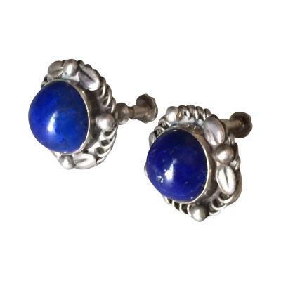 Georg Jensen Georg Jensen Sterling Silver Earrings No 39B with Lapis Lazuli