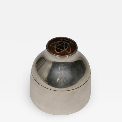 Georg Jensen Georg Jensen Sterling Silver Enameled Tea Caddy by Henning Koppel