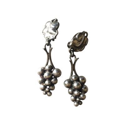 Georg Jensen Georg Jensen Sterling Silver Grape Dangle Earrings No 40 by Harald Nielsen