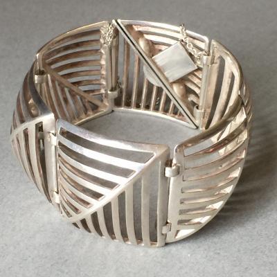 Georg Jensen Georg Jensen Sterling Silver Grates Bracelet No 389 by Nanna Ditzel