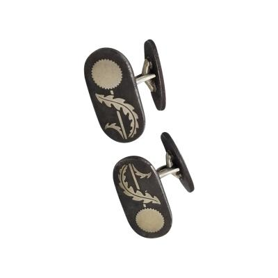 Georg Jensen Georg Jensen Sterling Silver Iron cufflinks design number 5007