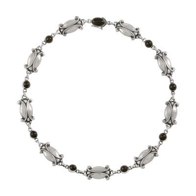 Georg Jensen Georg Jensen Sterling Silver Moonlight Necklace 15 Onyx