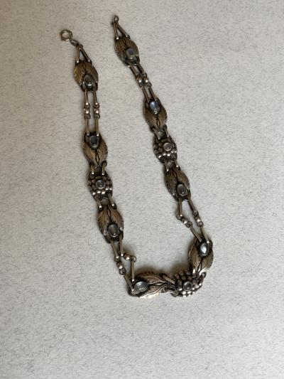 Georg Jensen Georg Jensen Sterling Silver Necklace with Moonstone Design No 1