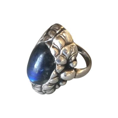 Georg Jensen Georg Jensen Sterling Silver Ring No 11 with Labradorite