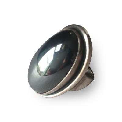 Georg Jensen Georg Jensen Sterling Silver Ring with Hematite No 46E by Harald Nielsen